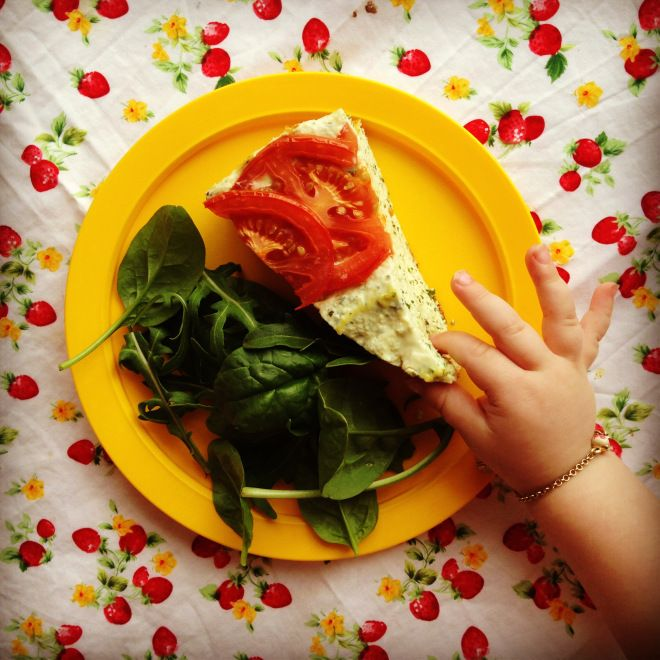 ricotta, herb & tomato pie | baby led weaning | Pinterest