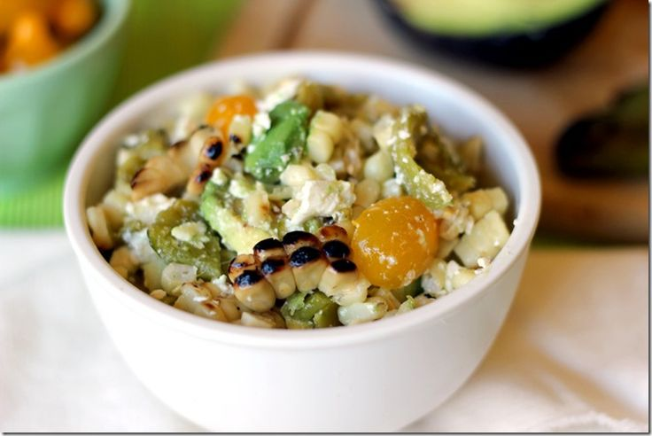 Roasted Corn & Hatch Chili Salad | Mexican & Latin Food | Pinterest