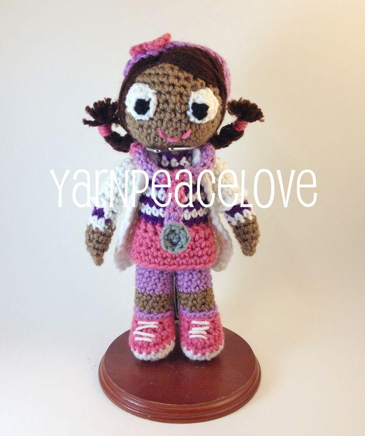 Doc Mcstuffins inspired crochet doll by #YarnPeaceLove  www.facebook.com/YarnPeaceLove