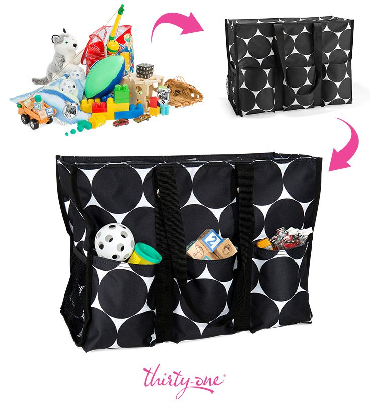 The Super Organizing Tote holds everything you need and zips to keep ...