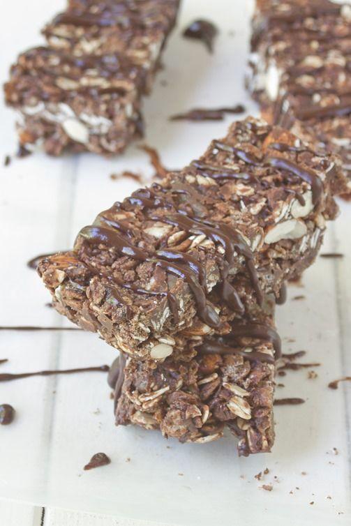 Chocolate Almond Granola Bars | Snacks And Snacky Things | Pinterest