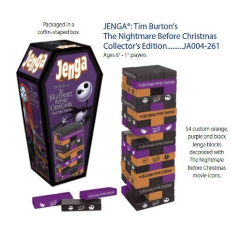 Board Games: Nightmare Before Christmas - Jenga Collector's Edition