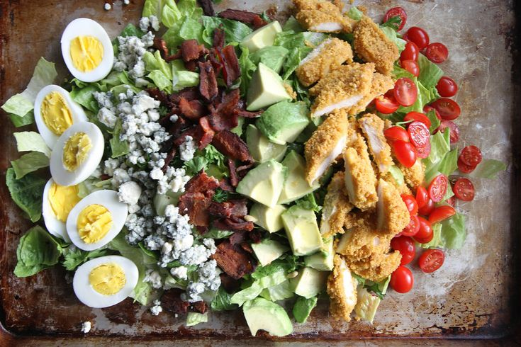 Fried Chicken Cobb Salad. Looks delicious, and the presentation is ...