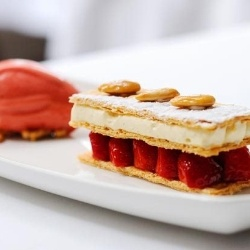 Strawberry mille feuille recipe | Food 2 | Pinterest