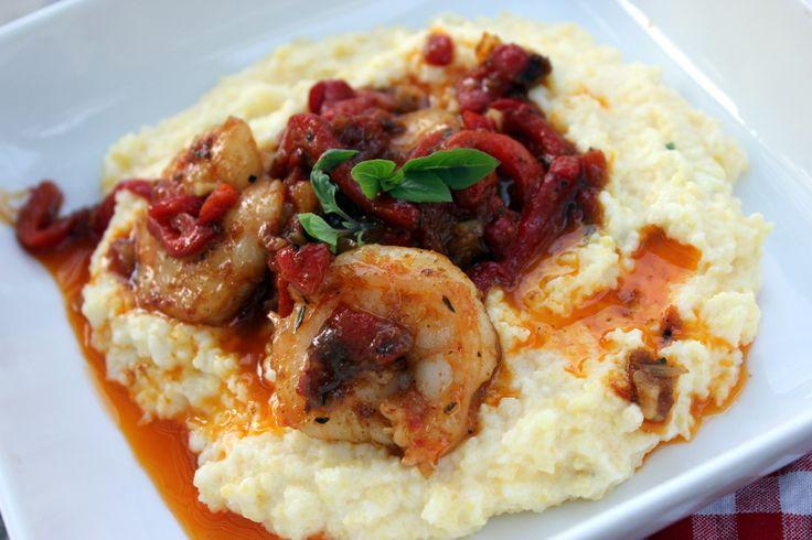 Tupelo Honey Cafe's Shrimp & Goat Cheese Grits | Food | Pinterest