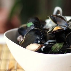 Sake-Steamed Mussels by dbcurrie | Favorite Recipes | Pinterest