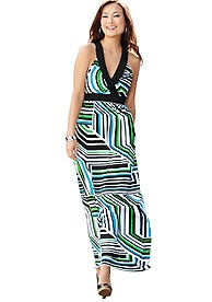 New Directions Striped Maxi Dress