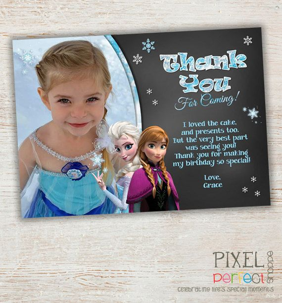Frozen Birthday Thank You Cards