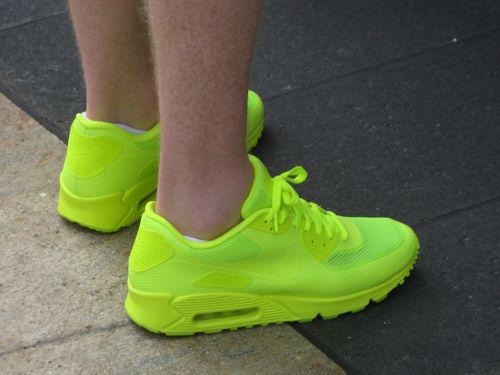 bright neon tennis shoes vibrant