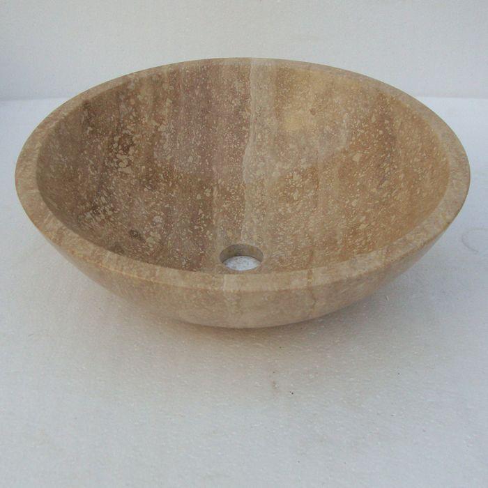 Stone Bathroom Sink Bowls : ... bathroom bowl sinks Bathroom Travertine Stone Vessel Sink Bowl Basin