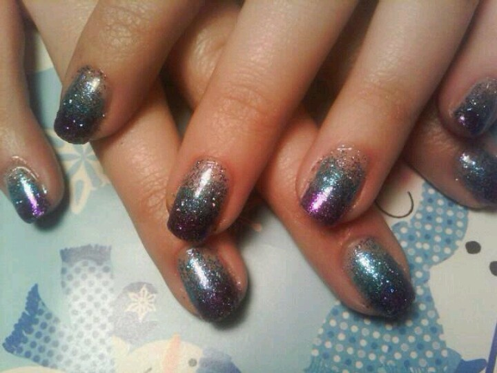 Shellac glitter ombre. | Nails by LYSA! | Pinterest