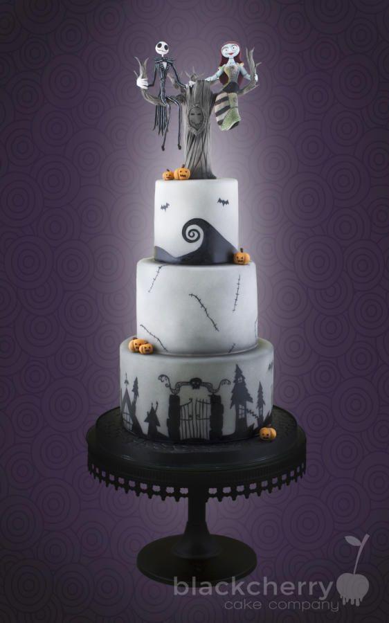 Nightmare before christmas wedding cake halloween thanksgiving fa