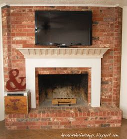 How To Mount A Tv On A Brick Fireplace Home Sweet Home Pinterest