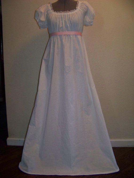 Jane Austen Regency Style Costume Dress Size 4 6 Women