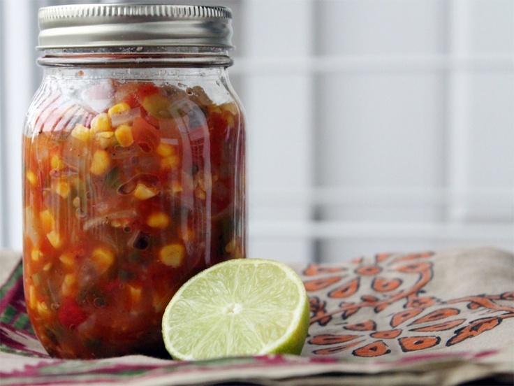 Canned Spicy Corn Salsa. http://www.ladlesandhighheels.com