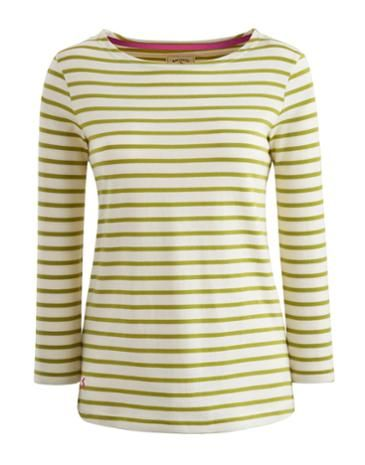 Joules Womens Cotton Top, Lime Stripe.                     If you like to be beside the seaside (or simply want a top that sings of coastal cool) this top ticks all the boxes.