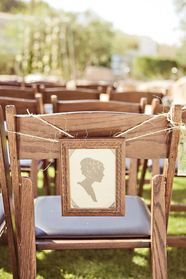 Silhouettes are so neat, in my opinion. I'm picturing one of each of you, facing each other, maybe as a motif carried throughout your decor: from the return address on the invites to your website to the programs, maybe on the menus or something too. Very shabby chic/vintage feeling.