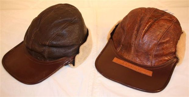 vintage US Army Air Force flight hats