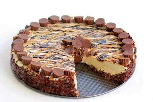 Frozen peanut butter cheesecake | Recipes | Pinterest