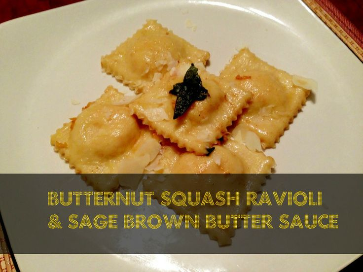 Autumn Squash Ravioli With Sage Brown Butter Sauce Recipe ...