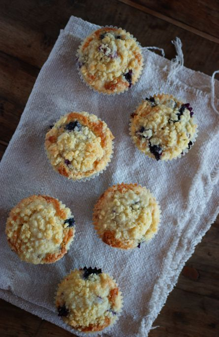 Poires au Chocolat: Brown Butter Blueberry Muffins