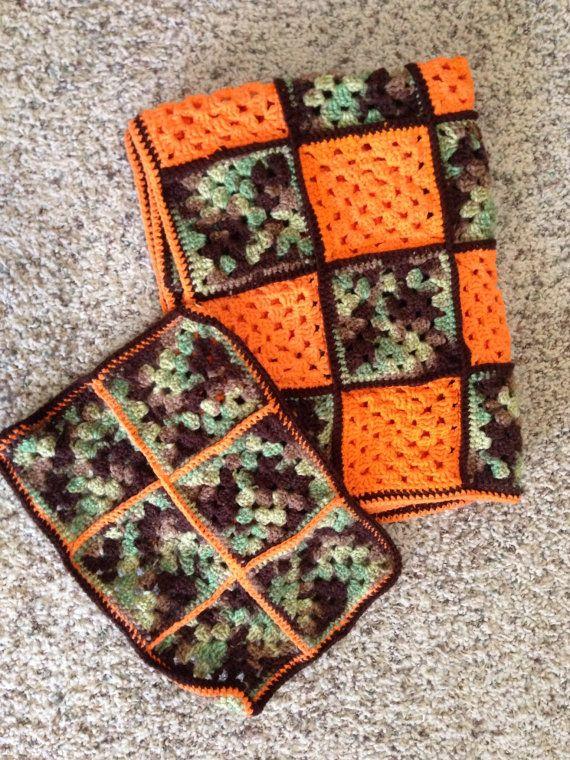 Camouflage Baby Blanket & Burp Rag