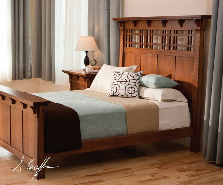 Craftsman bed; love the clean lines on this bed
