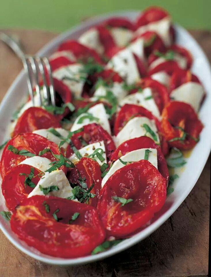 Tomato, Mozzarella, Basil Salad!! | A passion for cooking, and eating ...