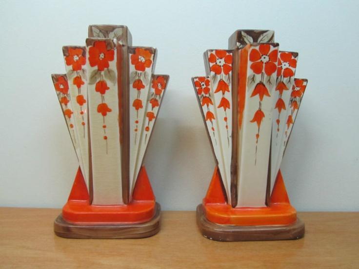 art deco myott moderne vases myott sons art deco. Black Bedroom Furniture Sets. Home Design Ideas