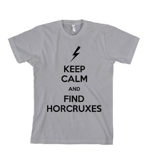 Harry Potter TShirt Keep Calm and Find Horcruxes  by Cakeworthy