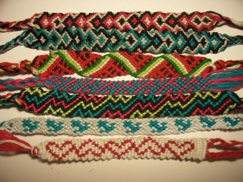 Patterned friendship bracelets