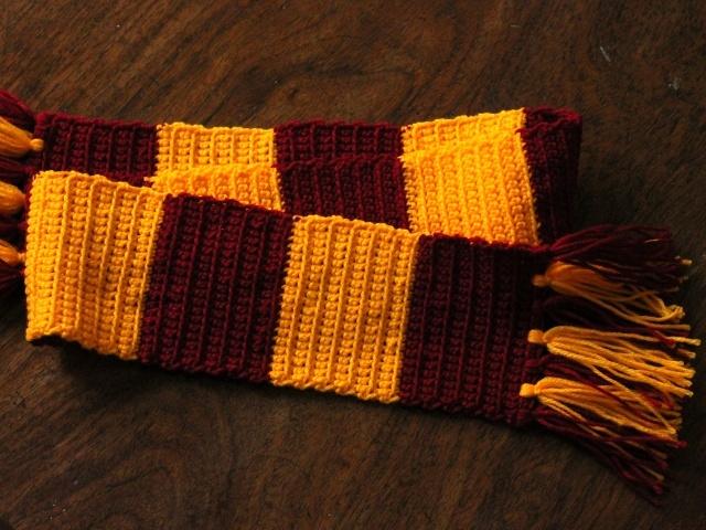 Как сделать шарф как у гарри поттера