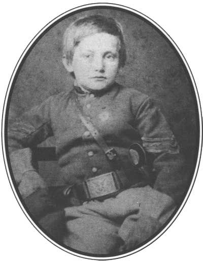 """NPS: """"The most famous of the dozens of young drummer boys was Johnny Clem of Newark, Ohio. He went to war at the age of ten. In Clem's first battle, a shell fragment ripped his drum apart. He became known as """"Johnny Shiloh."""" Gallantry in action two years later brought him promotion to sergeant. Clem made the army a career, and he retired in 1916 with the rank of major general."""""""
