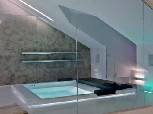 Attic designs bathroom send me to attica pinterest for Attic bathroom design ideas