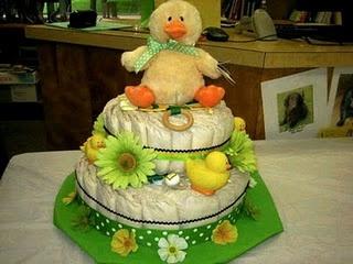 Oregon Ducks themed Diaper Cake