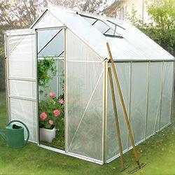Serre de jardin ESSENTIEL aluminium et polyéthylène 4.75m2