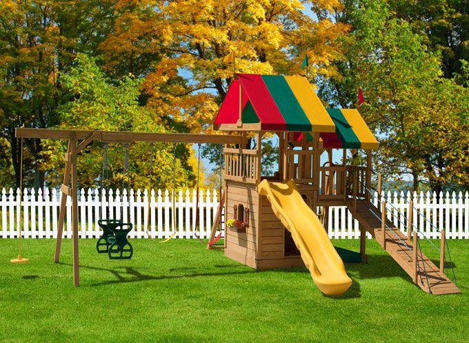 Backyard Playground Set : The #450 Backyard Bliss Swing Set What would your children say if you