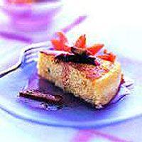 Moist Passion Fruit Cake with Rhubarb and Papaya Compôte