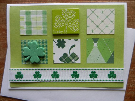 st patrick's day homemade poster flags