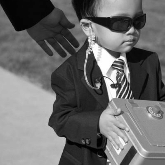 Ring bearer security 2gether with earpiece and safe...so cute :-)