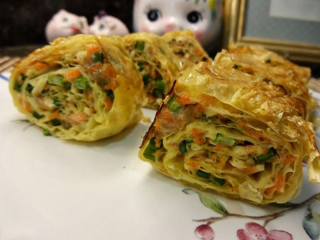 salmon tofu skin roll   FOOD   Pinterest