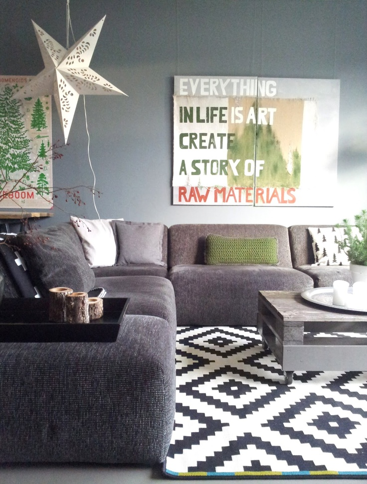 Family room gray couch and wall grey couch pinterest for Gray and white family rooms