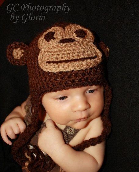 Monkey Beanie Hat Crochet Pattern : Mr, Monkey hat (pattern)