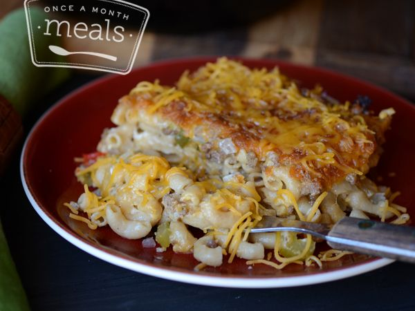 Tex Mex Mac and Cheese - Once a Month Meals