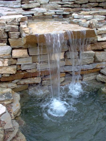 Stacked stone waterfall for the home pinterest for Cascadas para jardin piedra