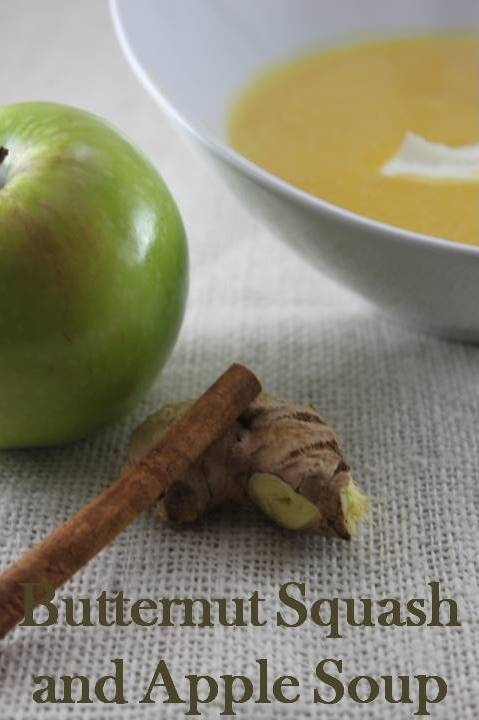 Butternut Squash & Apple Soup | FOOD | Pinterest