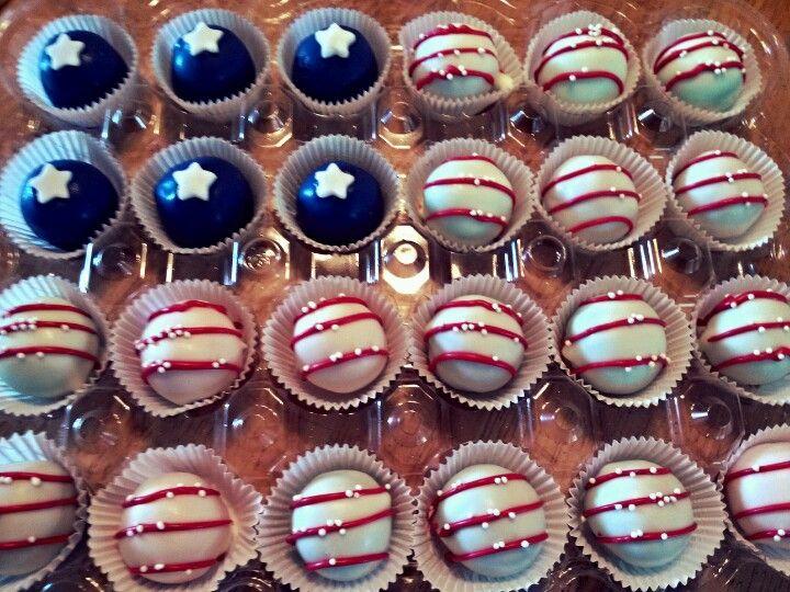 fourth of july cake balls recipe