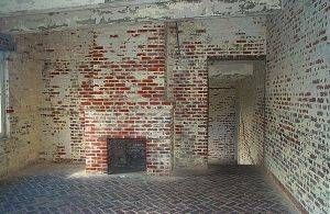removing paint from a brick fireplace