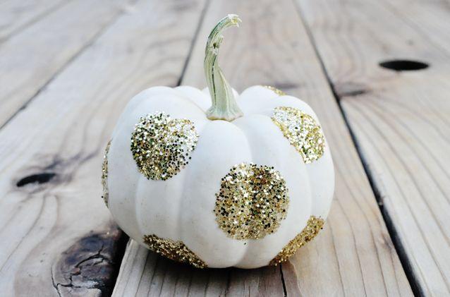 Glittered Pumpkins
