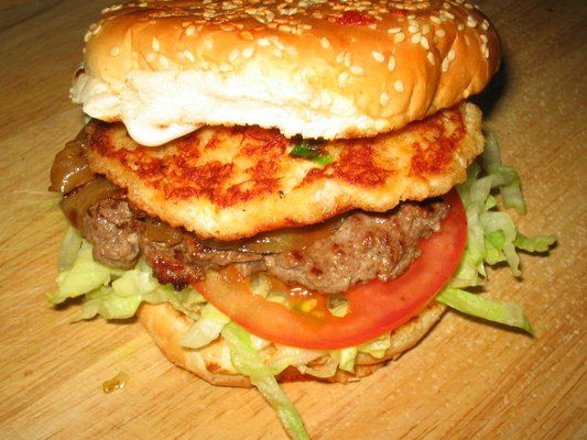 crab cake crusted angus burger | Mouth watering recipes | Pinterest
